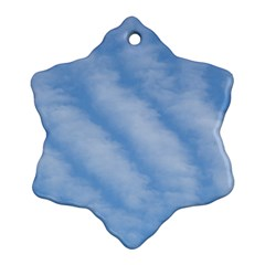 Wavy Clouds Snowflake Ornament (2-Side)