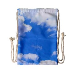 Clouds And Blue Sky Drawstring Bag (small)