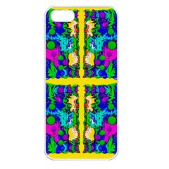 Shimmering Landscape Abstracte Apple Iphone 5 Seamless Case (white)