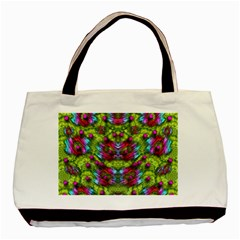 Freedom In Colors And Floral Basic Tote Bag