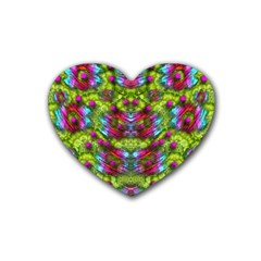 Freedom In Colors And Floral Heart Coaster (4 Pack)