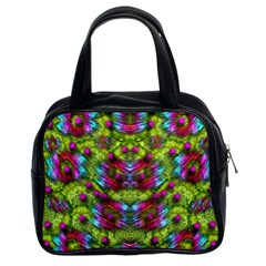 Freedom In Colors And Floral Classic Handbags (2 Sides)