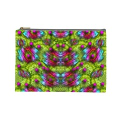 Freedom In Colors And Floral Cosmetic Bag (large)