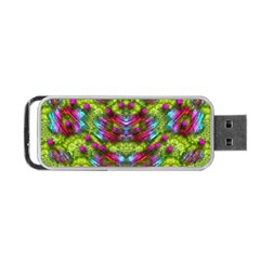 Freedom In Colors And Floral Portable Usb Flash (one Side)