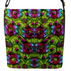 Freedom In Colors And Floral Flap Messenger Bag (s)