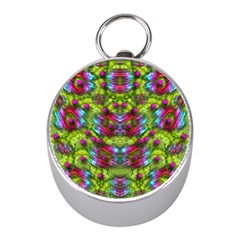 Freedom In Colors And Floral Mini Silver Compasses