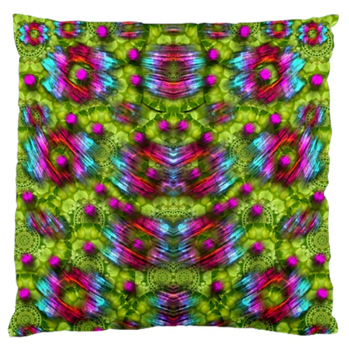 Freedom In Colors And Floral Standard Flano Cushion Case (Two Sides)