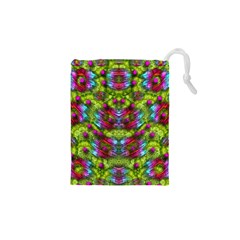 Freedom In Colors And Floral Drawstring Pouches (xs)