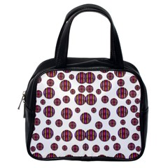 Shimmering Polka Dots Classic Handbags (one Side)