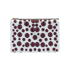 Shimmering Polka Dots Cosmetic Bag (medium)