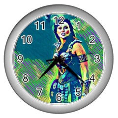 Warrior Princess 1 Wall Clocks (silver)