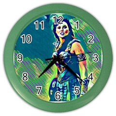 Warrior Princess 1 Color Wall Clocks