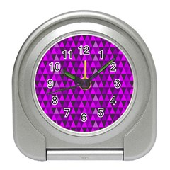Triangle Purple Travel Alarm Clocks