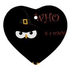 Who is a witch? Ornament (Heart)
