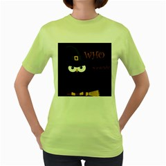 Who is a witch? Women s Green T-Shirt