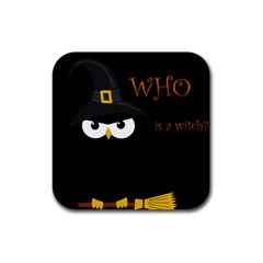 Who is a witch? Rubber Coaster (Square)