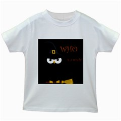 Who is a witch? Kids White T-Shirts