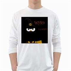 Who is a witch? White Long Sleeve T-Shirts
