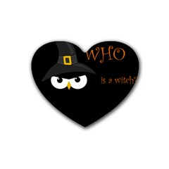 Who is a witch? Heart Coaster (4 pack)