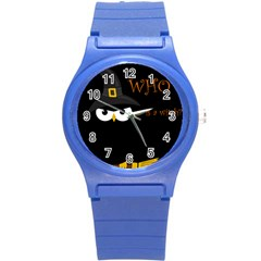 Who is a witch? Round Plastic Sport Watch (S)