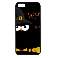 Who is a witch? Apple iPhone 5 Seamless Case (Black)