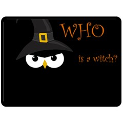 Who is a witch? Double Sided Fleece Blanket (Large)