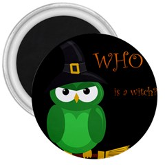 Who is a witch? - green 3  Magnets