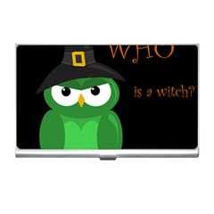 Who is a witch? - green Business Card Holders