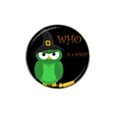 Who is a witch? - green Hat Clip Ball Marker