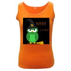 Who is a witch? - green Women s Dark Tank Top