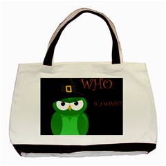 Who is a witch? - green Basic Tote Bag (Two Sides)