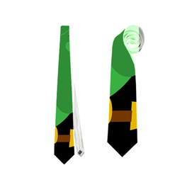 Who is a witch? - green Neckties (Two Side)