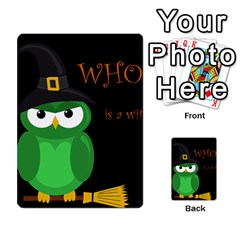Who is a witch? - green Multi-purpose Cards (Rectangle)