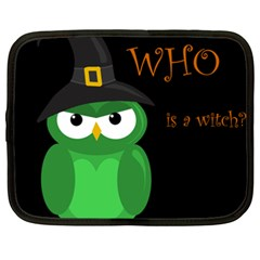 Who is a witch? - green Netbook Case (XXL)