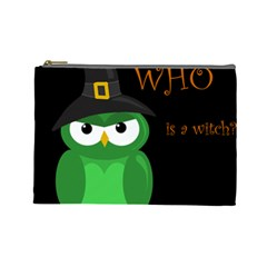 Who is a witch? - green Cosmetic Bag (Large)