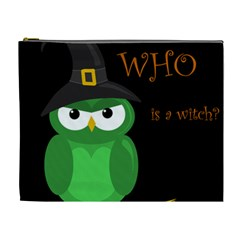 Who is a witch? - green Cosmetic Bag (XL)