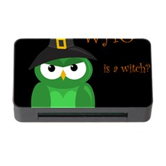 Who is a witch? - green Memory Card Reader with CF