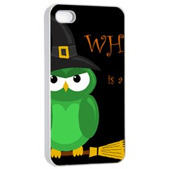 Who is a witch? - green Apple iPhone 4/4s Seamless Case (White)