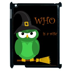 Who is a witch? - green Apple iPad 2 Case (Black)