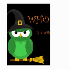 Who is a witch? - green Large Garden Flag (Two Sides)