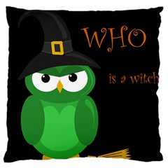 Who is a witch? - green Large Cushion Case (Two Sides)
