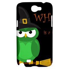 Who is a witch? - green Samsung Galaxy Note 2 Hardshell Case