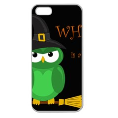 Who is a witch? - green Apple Seamless iPhone 5 Case (Clear)