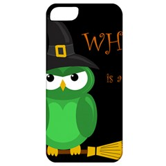 Who is a witch? - green Apple iPhone 5 Classic Hardshell Case