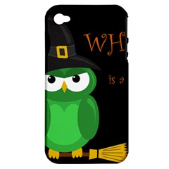 Who is a witch? - green Apple iPhone 4/4S Hardshell Case (PC+Silicone)