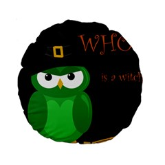 Who is a witch? - green Standard 15  Premium Round Cushions