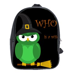 Who is a witch? - green School Bags (XL)