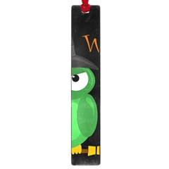 Who is a witch? - green Large Book Marks