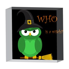 Who is a witch? - green 5  x 5  Acrylic Photo Blocks