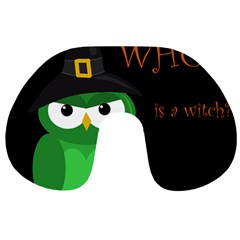 Who is a witch? - green Travel Neck Pillows